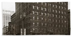 Wilkes Barre Pa Hollenback Coal Exchange Building Corner Of Market And River Sts April 1937 Beach Towel