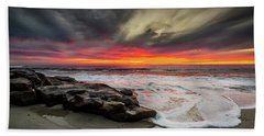 Will Of The Wind Beach Towel by Peter Tellone