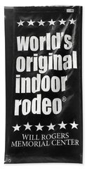 Will Rogers Rodeo Bw Beach Towel