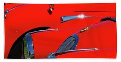 Beach Towel featuring the photograph Will The Owner Of The Red Car by John Schneider