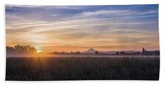 Willamette Valley Sunrise Beach Towel
