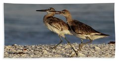 Willet Fight Beach Towel