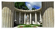 Beach Sheet featuring the photograph William Mckinley Memorial 002 by George Bostian