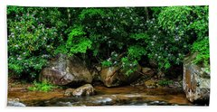 Williams River And Rhododdendron Beach Towel