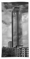 Williams Tower In Black And White Beach Towel
