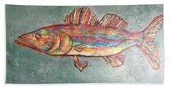 Willie The Walleye Beach Towel