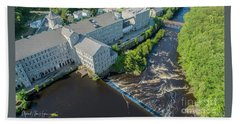 Willimantic River And Mill #2 Beach Towel