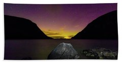 Willoughby Aurora And Boulder Beach Sheet by Tim Kirchoff
