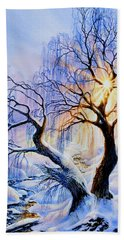 Beach Sheet featuring the painting Willow Creek Sunset by Hanne Lore Koehler