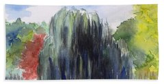 Willow Tree -2  Hidden Lake Gardens -tipton Michigan Beach Towel by Yoshiko Mishina