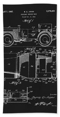 Willy's Military Jeep Patent Beach Towel