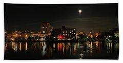 Wilmington Nc At Night Beach Towel