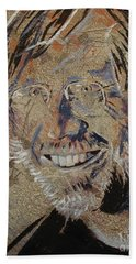 Beach Towel featuring the painting Wilson by Stuart Engel
