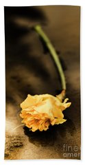 Wilting Puddle Flower Beach Towel