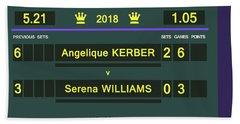 Wimbledon Scoreboard - Customizable - 2017 Muguruza Beach Towel