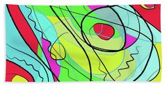 Wind And Leaves Beach Towel