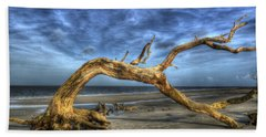 Wind Bent Driftwood Beach Towel by Greg and Chrystal Mimbs