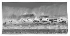 Beach Towel featuring the photograph Wind Blown Waves by Nicholas Burningham