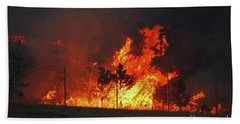 Wildfire Flames Beach Sheet