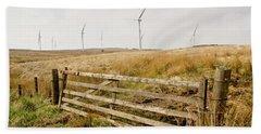 Wind Farm On Miller's Moss. Beach Towel