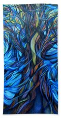 Wind From The Past Beach Towel by Anna Duyunova
