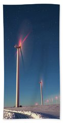 Beach Towel featuring the photograph Wind Power by Cat Connor