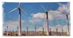 Wind Power Beach Towel