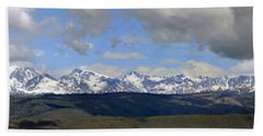 Dm9504-wind River Range Panorama  Beach Sheet