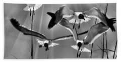 Wind Swept Bw Beach Towel