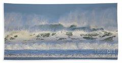 Wind Swept Waves Beach Towel