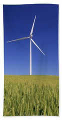 Wind Turbine Beach Towel