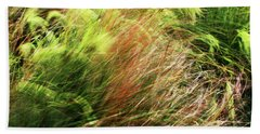 Windblown Grasses Beach Towel