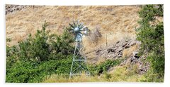 Windmill Aerator For Ponds And Lakes Beach Towel