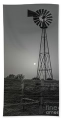 Beach Towel featuring the photograph Windmill At Dawn by Robert Frederick