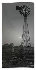 Windmill At Dawn Beach Sheet by Robert Frederick