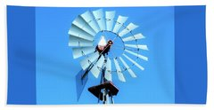 Beach Sheet featuring the photograph Windmill - Bright Sunny Day by Ray Shrewsberry