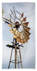Windmill In The Sky Beach Towel by Dawn Romine