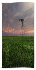 Beach Towel featuring the photograph Windmill Mammatus by Aaron J Groen