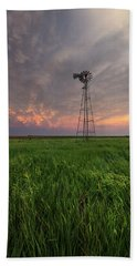 Beach Sheet featuring the photograph Windmill Mammatus by Aaron J Groen