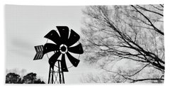 Windmill On The Farm Beach Towel