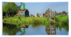 Windmill Reflection Beach Sheet