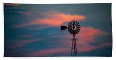 Windmill Sunset Beach Towel