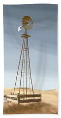 Windmill Beach Towel by Terry Frederick