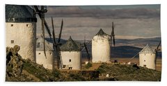 Beach Towel featuring the photograph Windmills Of La Mancha by Heiko Koehrer-Wagner