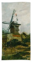 Windmills On Montmartre Beach Towel