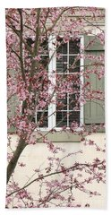 Window Blossoms Beach Towel