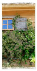 Beach Sheet featuring the photograph Window Floral In Plymouth by Joan  Minchak