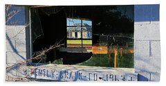 Beach Towel featuring the photograph Window History by Christopher McKenzie