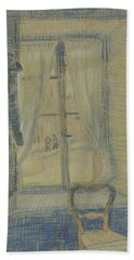 Window In The Bataille Restaurant Paris, February - March 1887 Vincent Van Gogh 1853 - 1890 Beach Sheet