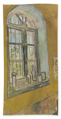 Window In The Studio Saint-remy-de-provence, September - October 1889 Vincent Van Gogh 1853 - 1890 Beach Towel